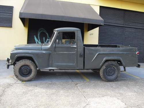 F 75 Rural Pick Up Ford Willys 4x4 Camionete Jeep Jeep Camionete Ford