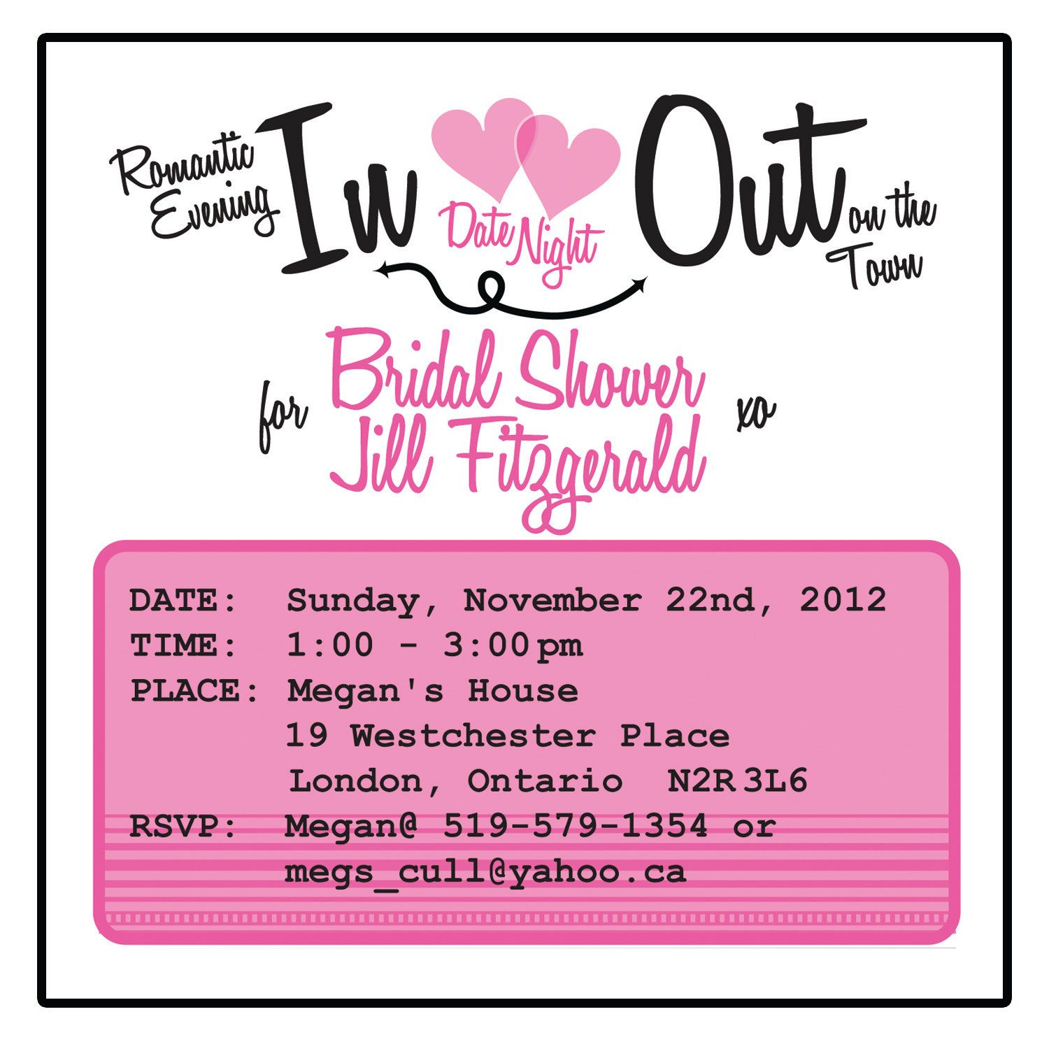 bridal shower invitations with a date night theme shower pink and black alternative bridal shower gift card shower invitations