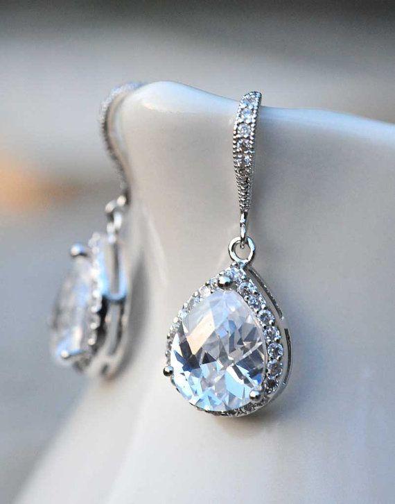 Bridal jewelry drop earrings vintage earrings Wedding jewelry summer