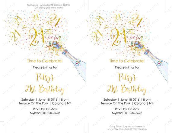21st Birthday Invitations Template
