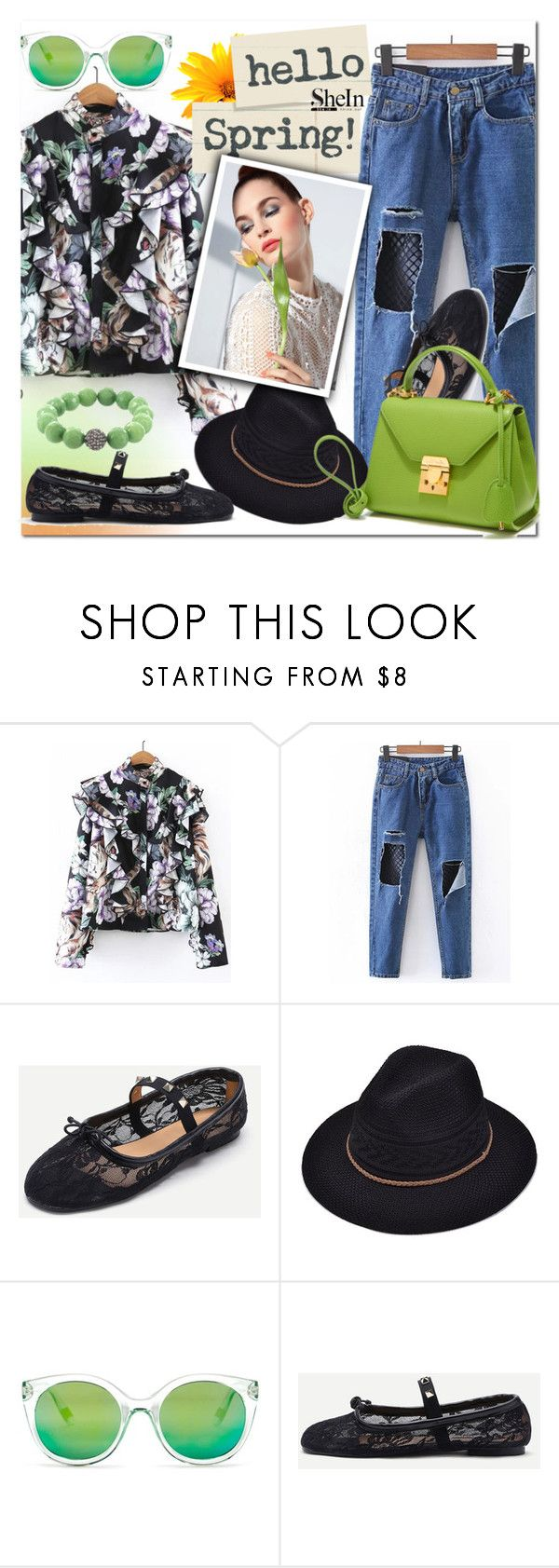 """""""SHEIN 2"""" by e-mina-87 ❤ liked on Polyvore featuring WithChic, gx by Gwen Stefani and Fox and Baubles"""