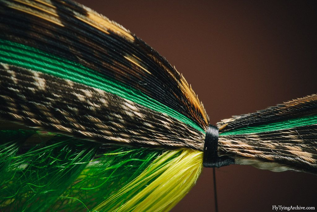 Mounting the wing on a Green Highlander classic salmon fly ... Classic Atlantic Salmon Fly Patterns