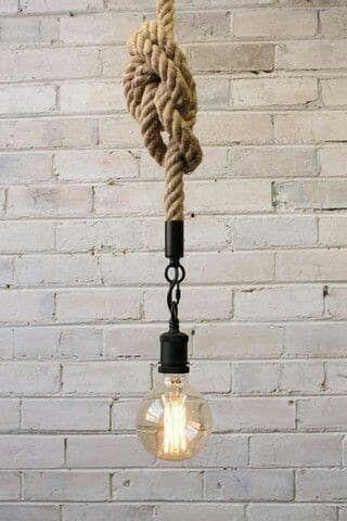 19 Farklı Hasır Halat Avize Fikirleri #pendantlighting
