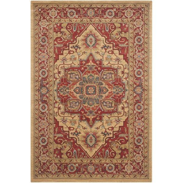 Safavieh Mahal Traditional Grandeur Red/ Natural Rug (6'7 x 9'2)