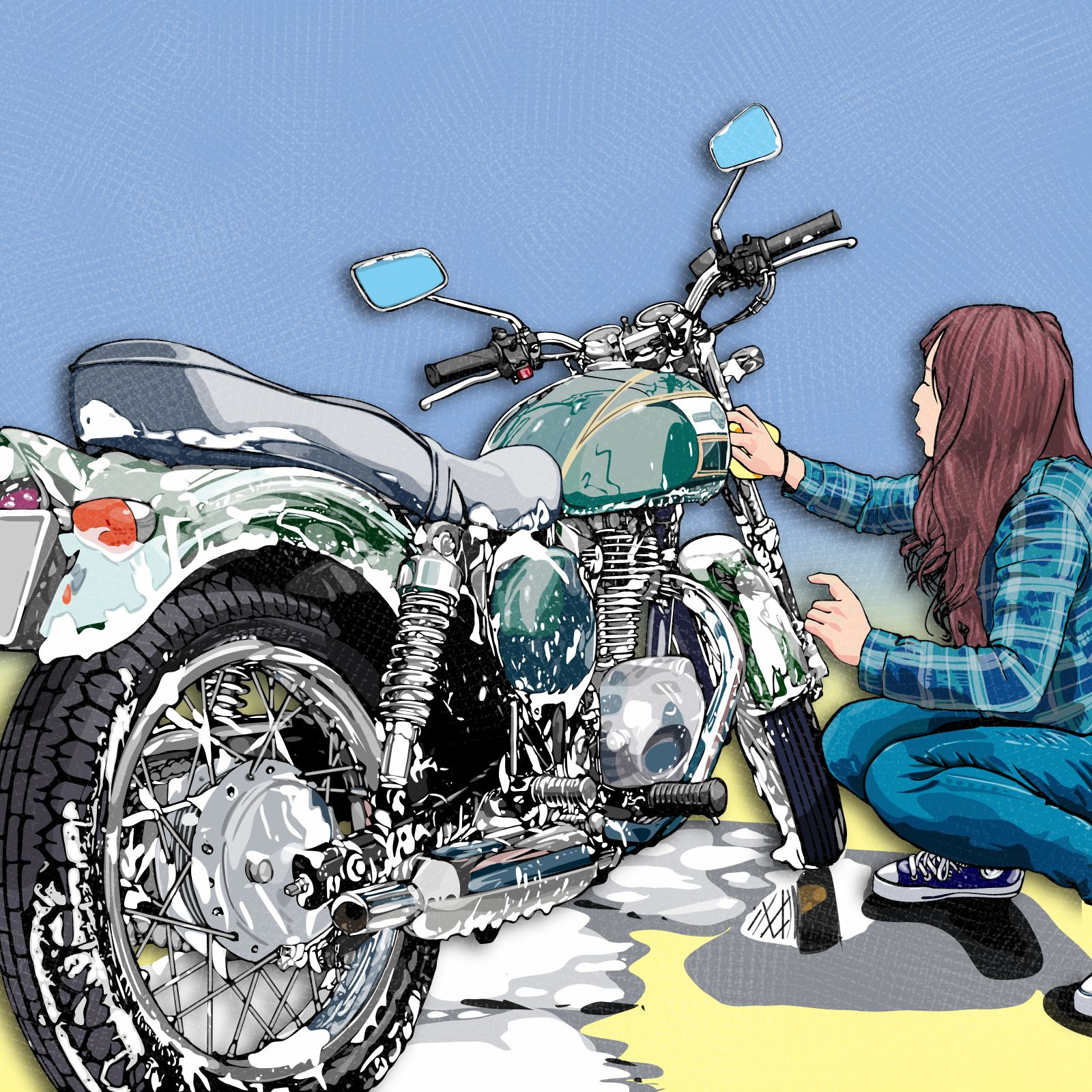 estgrr Anime motorcycle, Cafe racer style, Concept art