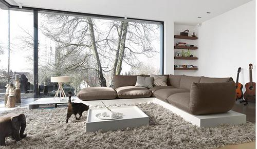 Moderne Woonkamer Inrichting : Deze woonkamer heb ik gevonden op freshome. een prachtige moderne