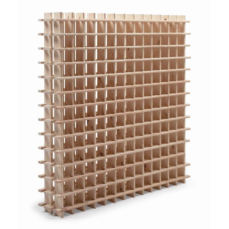 Casier 169 Emplacements Bois Brut Leroy Merlin Casier A Bouteille Range Bouteille Rangement Bouteille De Vin