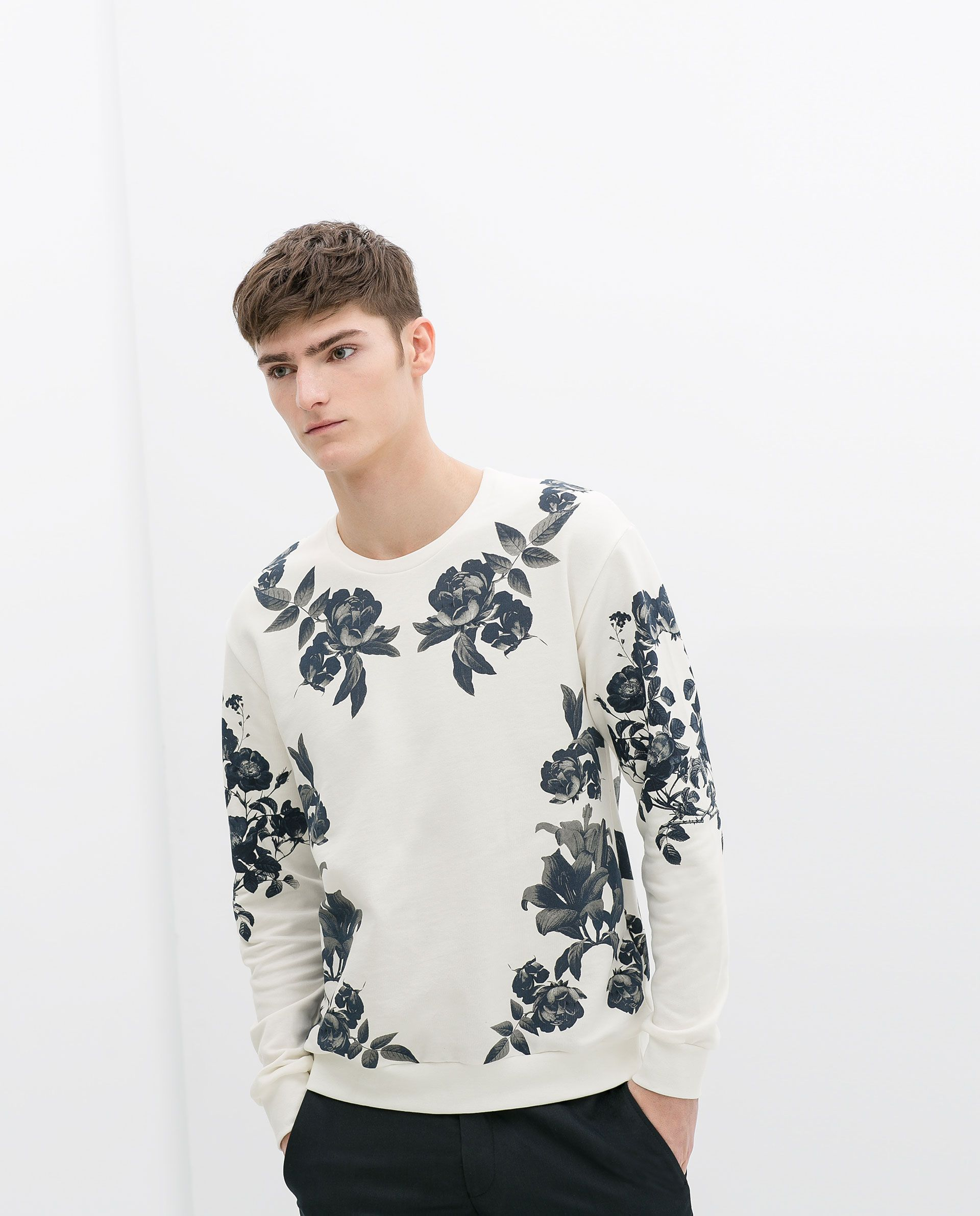 911da344 FLORAL SWEATSHIRT - Man - NEW THIS WEEK | ZARA Germany | Men's ...