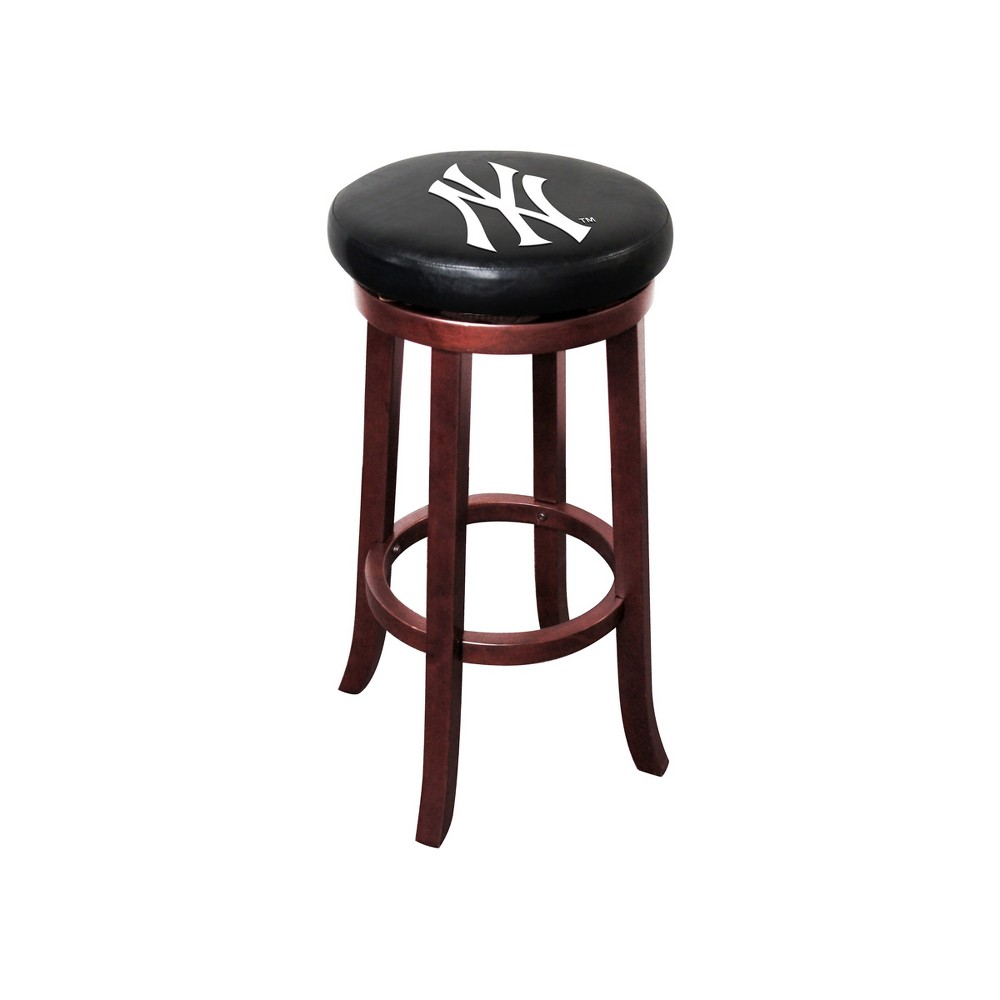 New York Yankees Imperial Wooden Bar Stool Products Wooden Bar