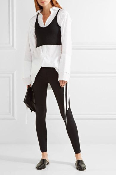 f086572fdcc705 Helmut Lang - Stretch-scuba Leggings - Black | Products | Black ...
