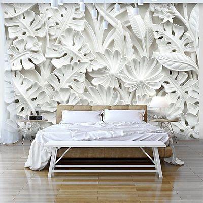 3d Wallpaper Xxxl Non Woven Home Wall Decor Mural Art White F B
