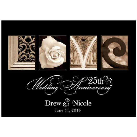 "25 Year Wedding Anniversary Gift Ideas: Personalized Wedding Love Plaque "" 25th Wedding"
