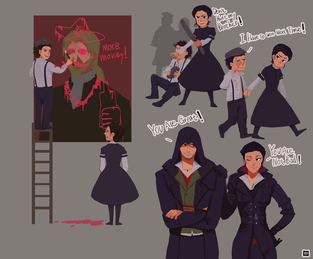 Jacob Evie Frye Frye Twins Assassin S Creed Syndicate
