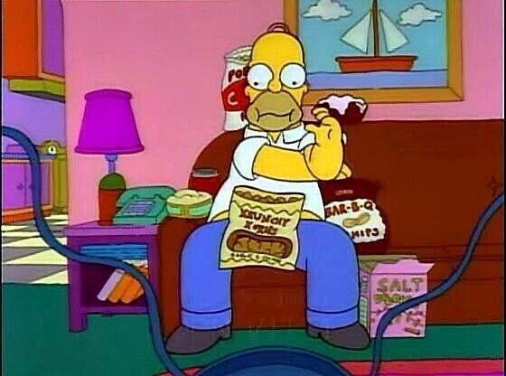 Viendo La Tele The Simpsons Simpson Homer Simpson