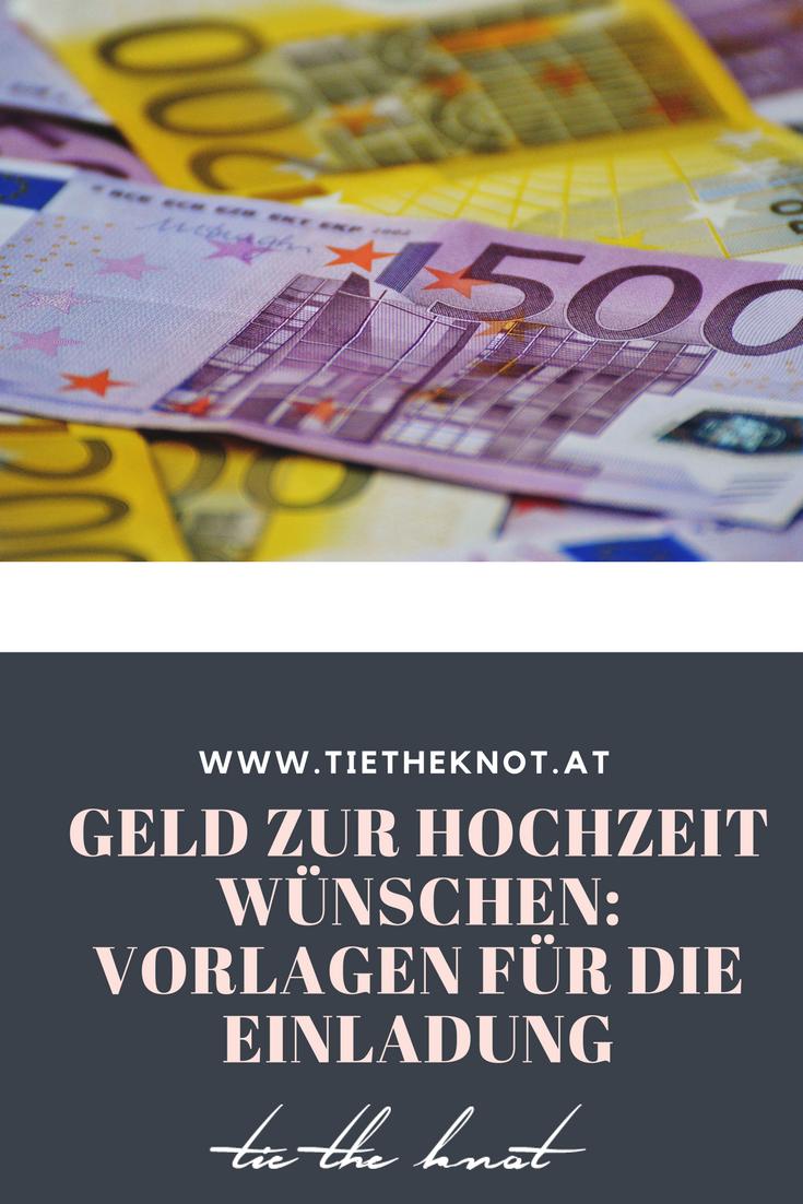 Geld zur Hochzeit wünschen: Sprüche & Reime für die Einladung ...