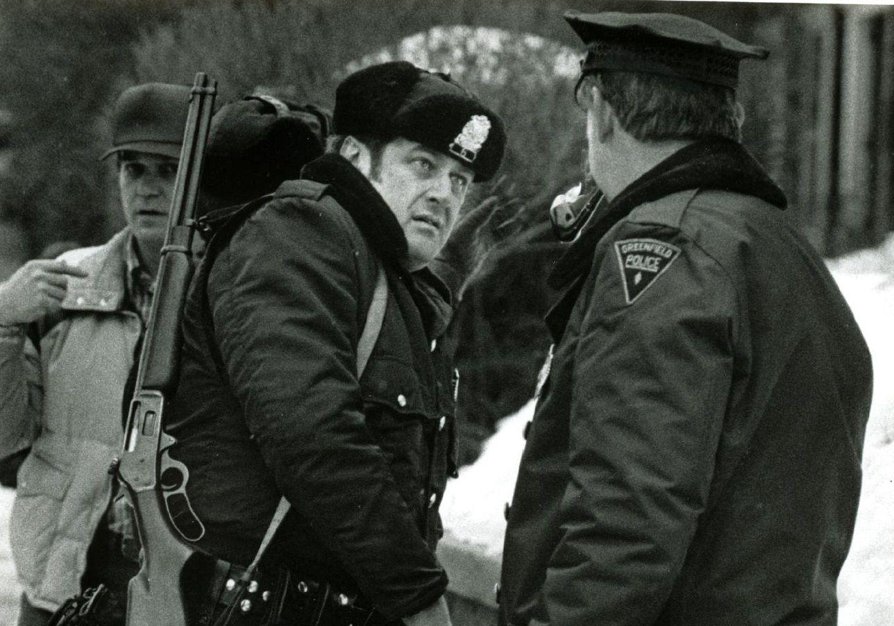 Greenfield Police officer Denis Menard (ret)and Henry Burns