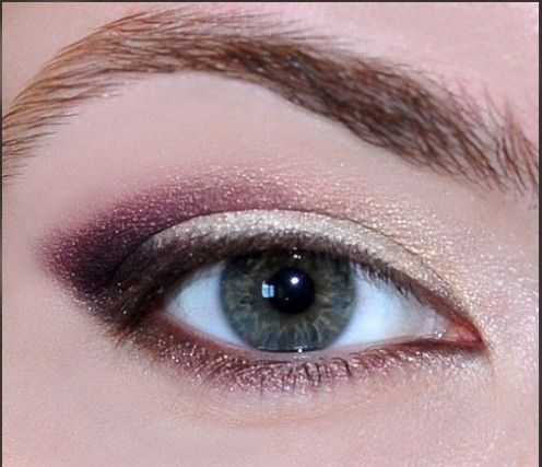 3 Steps to Perfect Eyebrows: Long-Lasting, Waterproof Brow Color #perfecteyebrows Sparkly white + plum eye shadow on outer corners. Fun fall eye makeup looks!  #fallmakeup #perfecteyebrows