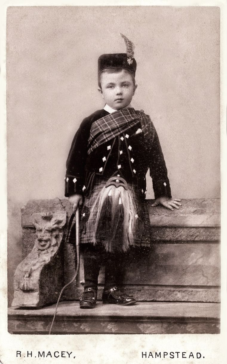 Antique Photograph Wee Lad In Kilt And Sporran Vintage Scotland Scottish Clothing Scottish Dress