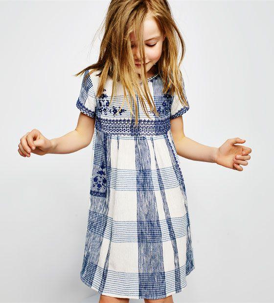 dd0dd065810 ZARA - ΠΡΟΣΦΟΡΕΣ - Κεντημένο καρό φόρεμα   Children   Kleidung ...