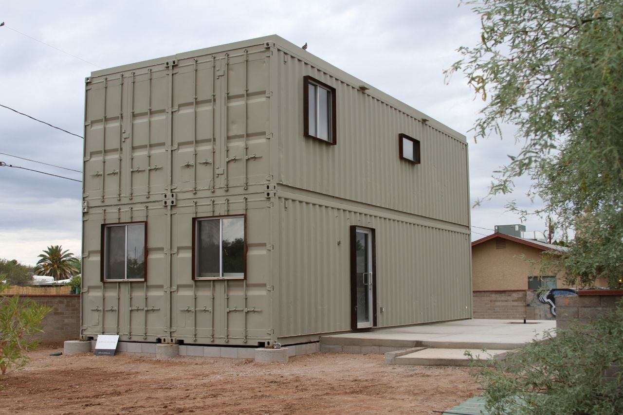 Cargo container homes on pinterest container houses - Cargo Container Homes Touch The Wind Tucson Steel Shipping Container House