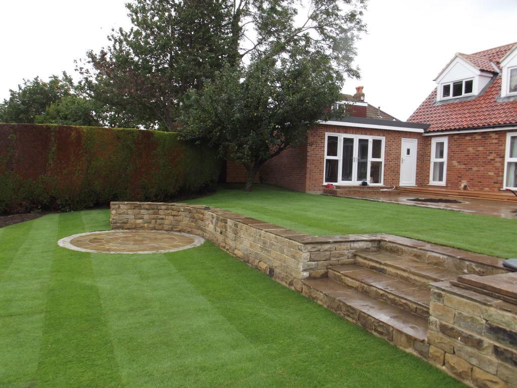 Large Split Levelled Garden   Sloped garden, Garden ...