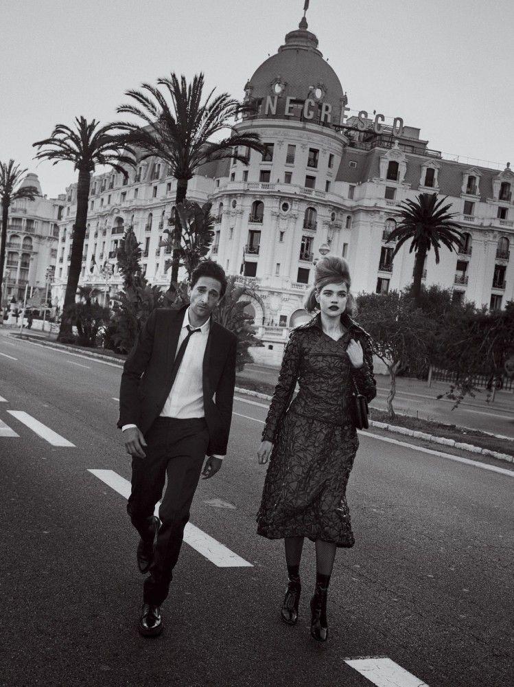 Amor eterno con Adrien Brody en Vogue, julio 2015