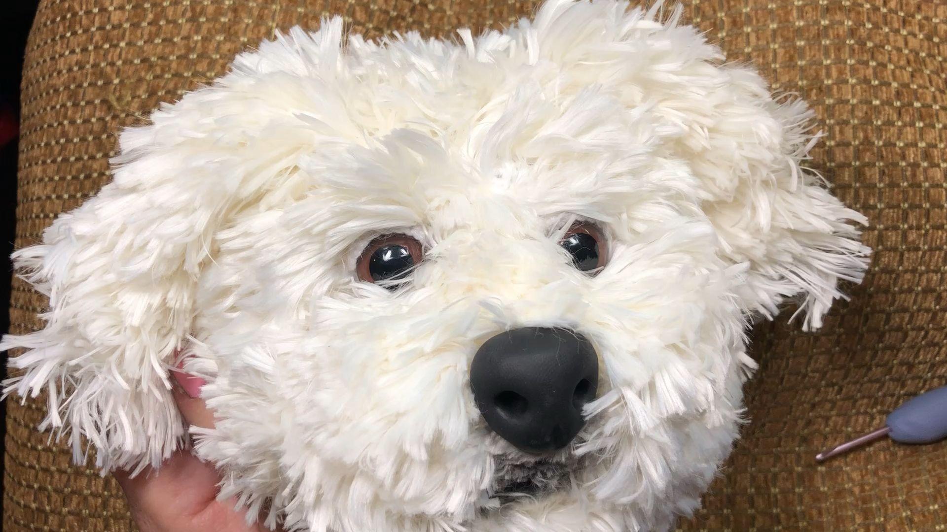 Photo of Maltese dog crochet pattern