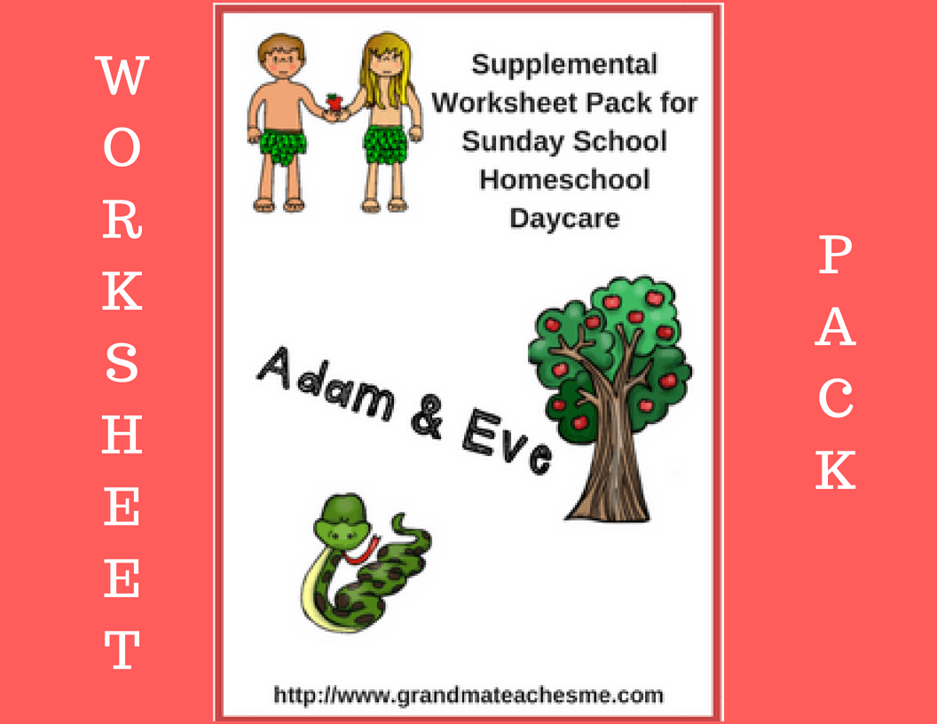 Adam Amp Eve Worksheet Package