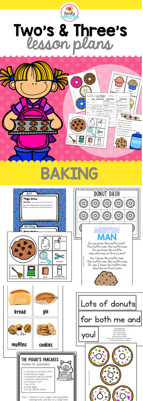 Yum Cookies Donuts Muffins And Pie This Two And Three Year Old Lesson Plan Set Is All Abou Cooking Lesson Plans Lesson Plans For Toddlers Preschool Cooking [ 1680 x 600 Pixel ]