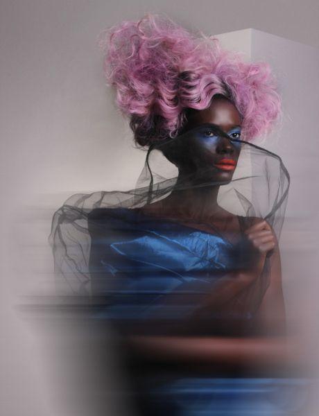 Hair: Lisa Vann, assistant: William Edge Designer: Charlie Price Makeup: Alicia Canon Photographer: Hunter Helmstaedter