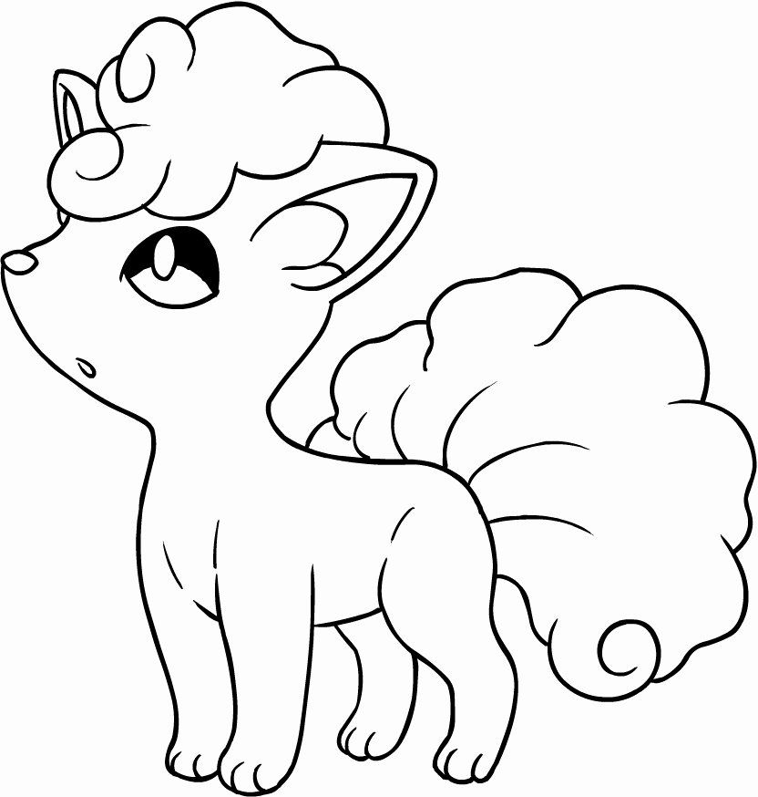 Alolan Vulpix Coloring Page Best Of Drawing A An Vulpix Of The Pokemon Sun And Moon Coloring Page Pokemon Coloring Pages Coloring Pages Moon Coloring Pages