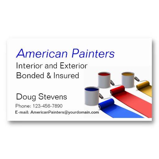 Painter Business Card Zazzle Com In 2021 Painter Business Card Free Business Card Templates Interior Designer Business Card