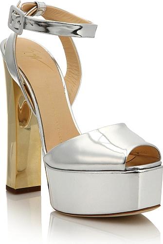 b4aef970d6c Giuseppe Zanotti Women s Shoes in Silver Color. Gleaming metallic leather  illuminates platform sandal. Metal
