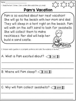 Multiple Choicen Worksheets Ks1 Reading Practice High School First ...