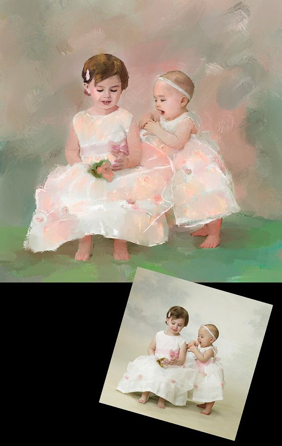 Custom Child Portrait Painting from Photo by KarenSperling on Etsy, $1300.00