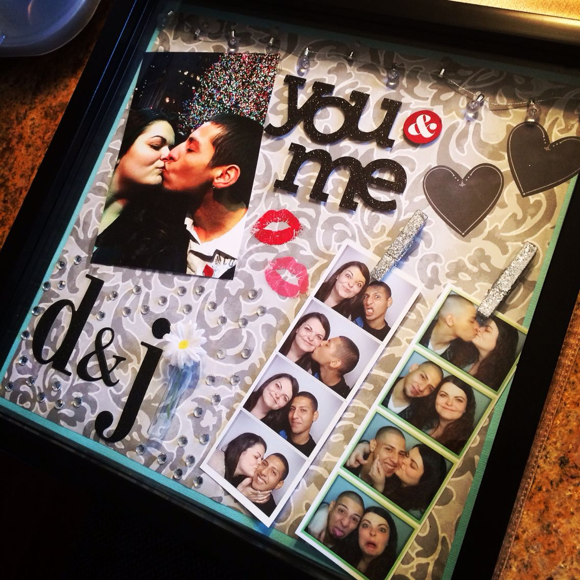 New Diy Handmade Creative Albums Romantic Souvenir: I Decided I Wanted To Make A Shadow Box Of Me And My