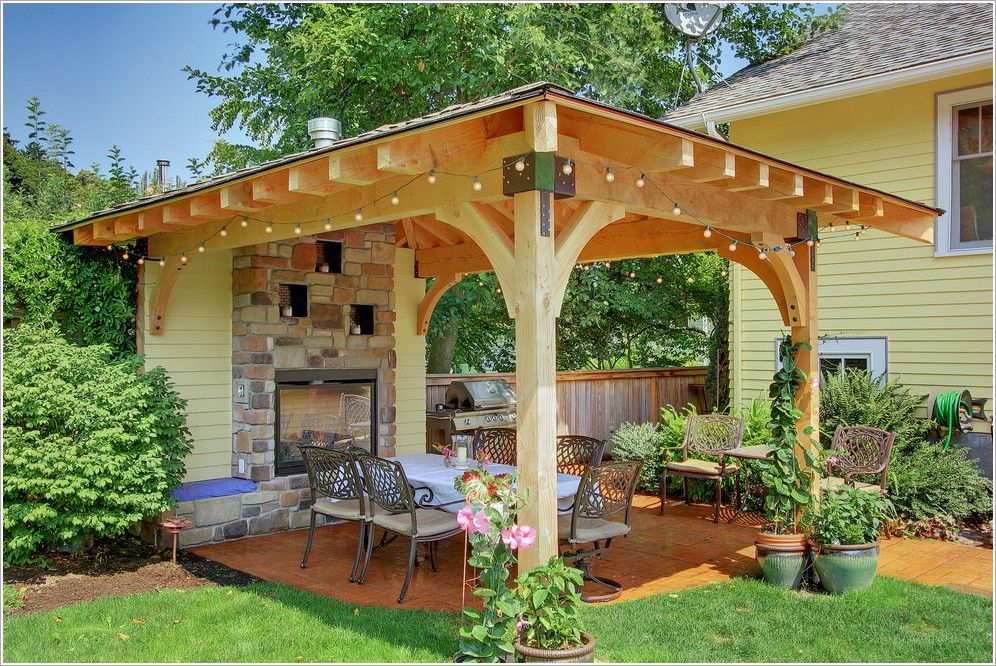 Classy Modern Seattle Climbing Plants Container Fireplace Surround Garden  Lighting Outdoor Patio Gazebo With Fire Pit