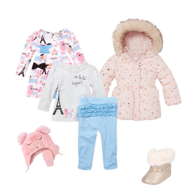 The Childrens Place Girls 3-Piece Winter Faux Fur Set