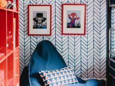 Daring spaces where wallpaper, fabrics or materials push design boundaries ... in a good way.