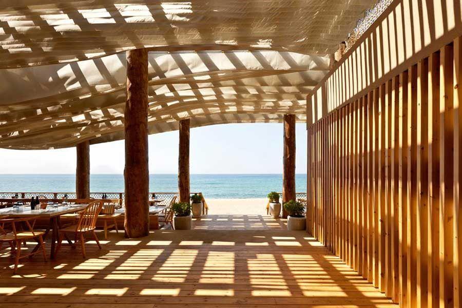 Barbouni Beach Restaurant Costa Navarino Greece Design By K Studio Architects Dunes Hotel Building Greek