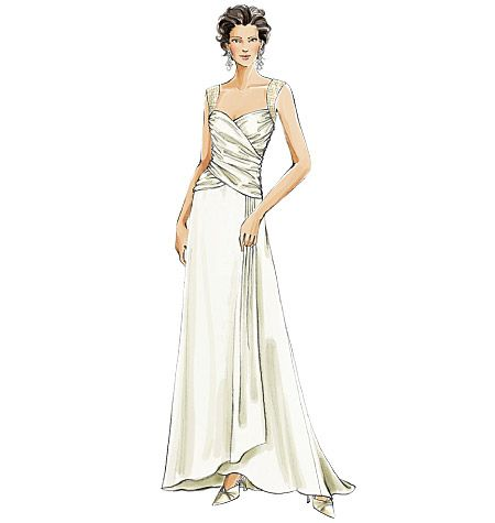 Sew For Prom 2017 A Ruched Bodice Like This Is Very Flattering Vogue Patterns V8150 Misses Dress