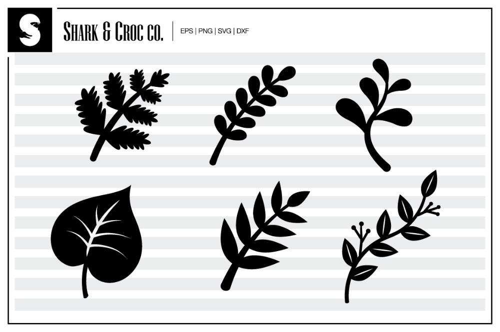 Download FREE Simple Leaves SVG DXF | Flower svg files, Rolled ...