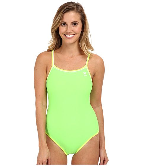 b94a622371552 TYR Solid Brites Reversible Diamondfit Swimsuit