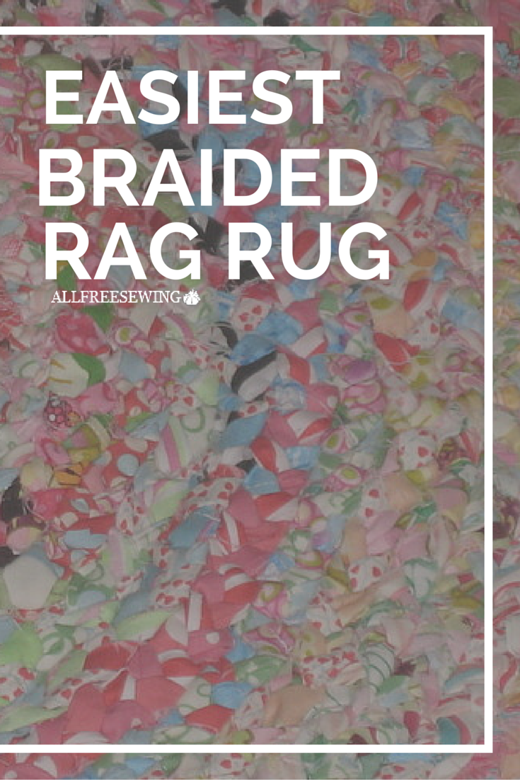 The Easiest Braided Rag Rug Make A Bright And Colorful Diy In Flash With This Tutorial