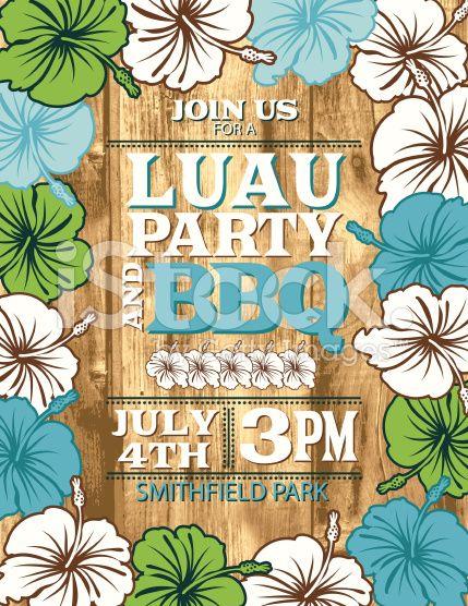 Aloha hawaiian party invitation with hibiscus flowers and wood aloha hawaiian party invitation with hibiscus flowers and wood stopboris Choice Image