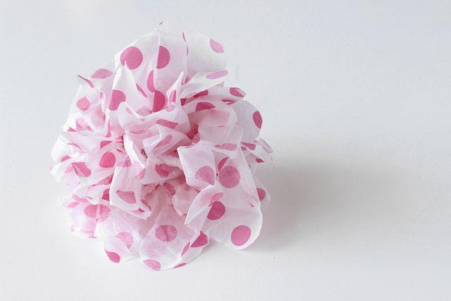 DIY Paper Pom Pom, tutorial not in En with pictures