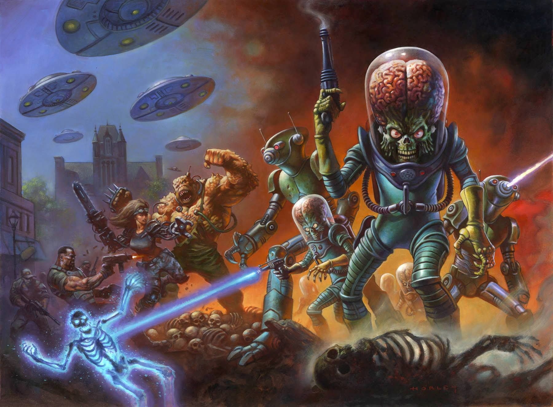 Box art for mars attacks occupation without logos