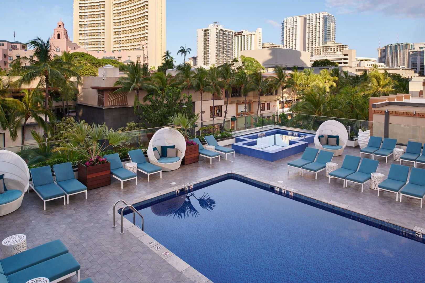 Relax By The Pool In A Sunbed When Staying At The Waikiki
