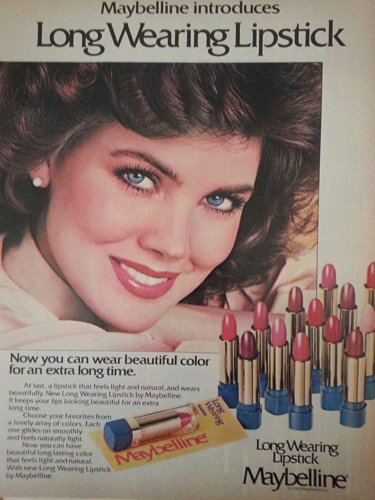 1983 Maybelline Long Wearing Lipstick Colors Cosmetics