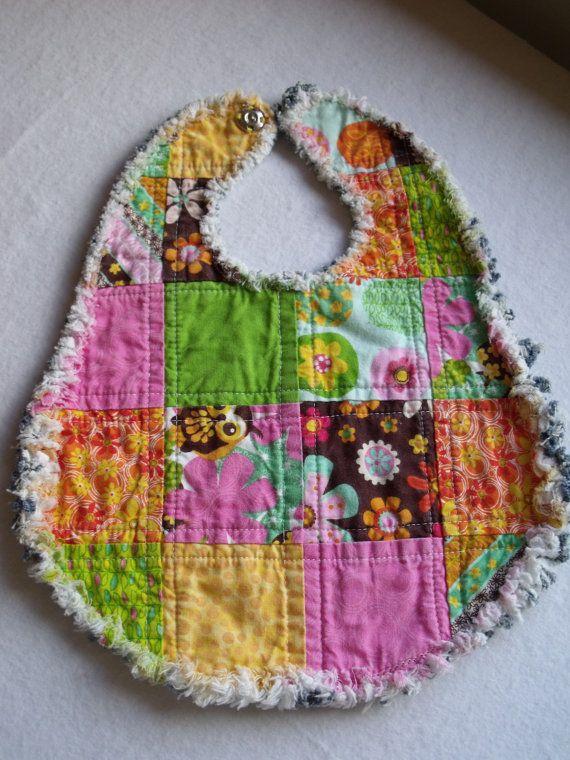 Baby Bib rag baby bib quilt baby bib rag quilt baby bib recycled ... : quilted baby bibs - Adamdwight.com